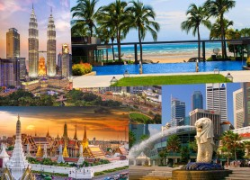 تور 15 روز ترکیبی شرق آسیا ، بانکوک 3شب + پوکت 4شب + کوالالامپور 4شب + سنگاپور 3شب با پرواز قطر ایر