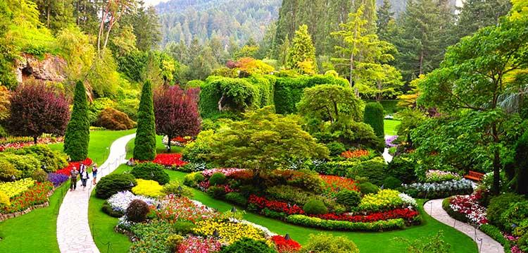 آشنایی با باغ های گل بوچارت کانادا (Butchart Gardens)