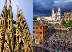 تور اروپا ایتالیا + اسپانیا 8 روز * ایتالیا اسپانیا * تور رم 4شب+ تور بارسلون 3شب، پاییز و زمستان 97