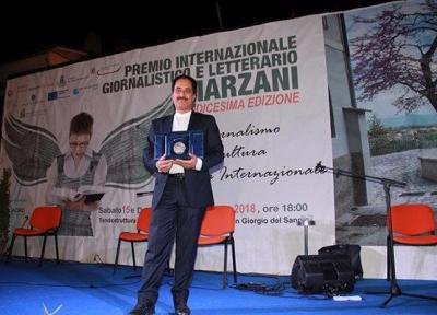 حمید معصومی نژاد برنده جایزه خبرنگاری و ادبی ایتالیا شد