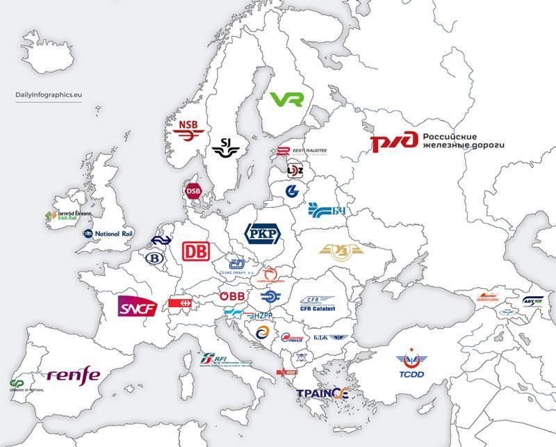 صدور بلیط قطار برای سرتاسر اروپا