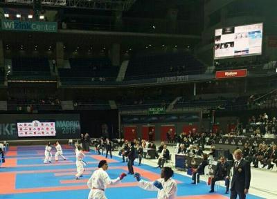 رقابت های کاراته قهرمانی جهان-اسپانیا؛ پیروزی تیم کومیته بانوان ایران در گام نخست رقابت های جهانی