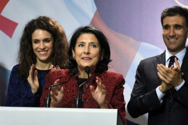 اولین رئیس جمهوری زن در گرجستان سوگند یاد کرد