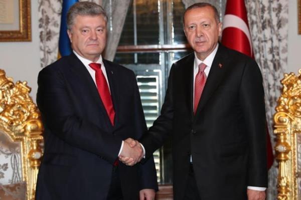 رؤسای جمهوری ترکیه و اوکراین دیدار کردند