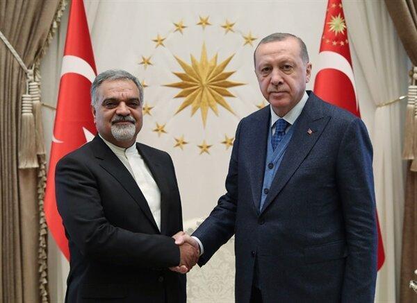 دیدار سفیر جدید ایران در ترکیه با اردوغان