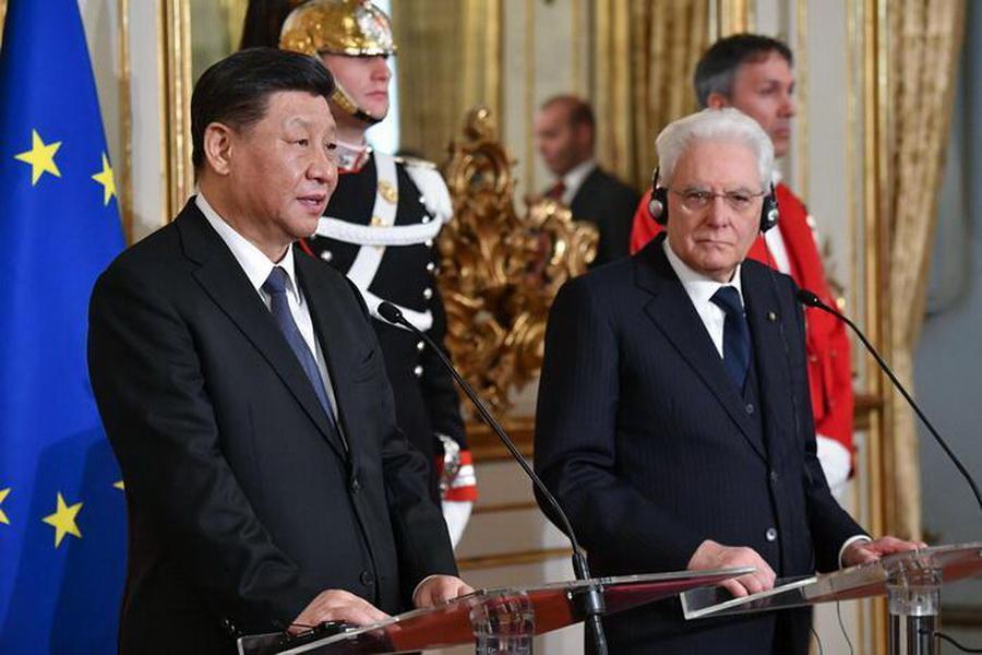 روسای جمهور ایتالیا و چین با یکدیگر در رم دیدار کردند