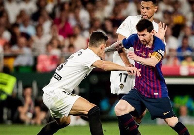 والنسیا برای هشتمین بار قهرمان جام حذفی اسپانیا شد، بارسلونا دومین جام فصلش را هم از دست داد