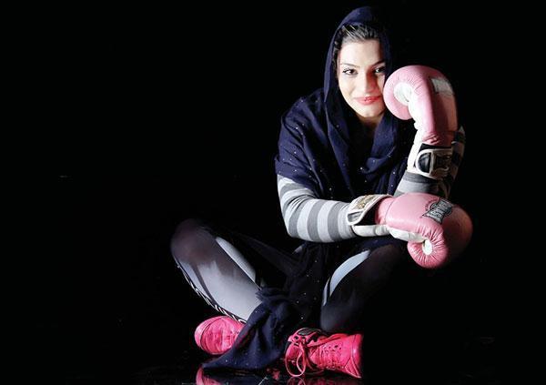 صدف خادم؛ دختر ایرانی در رینگ بوکس فرانسه