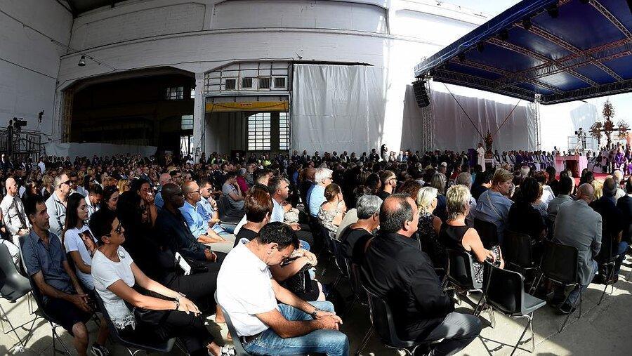 مراسم یادبود سالگرد فاجعه پل جنوا در اوج بحران سیاسی در ایتالیا