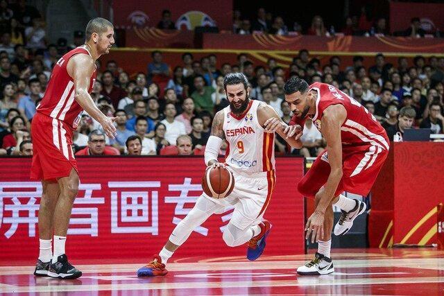 تیم ملی بسکتبال اسپانیا تونس را در هم کوبید