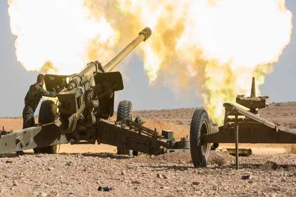 حملات سنگین توپخانه ارتش سوریه به تروریست های چینی و جبهه النصره
