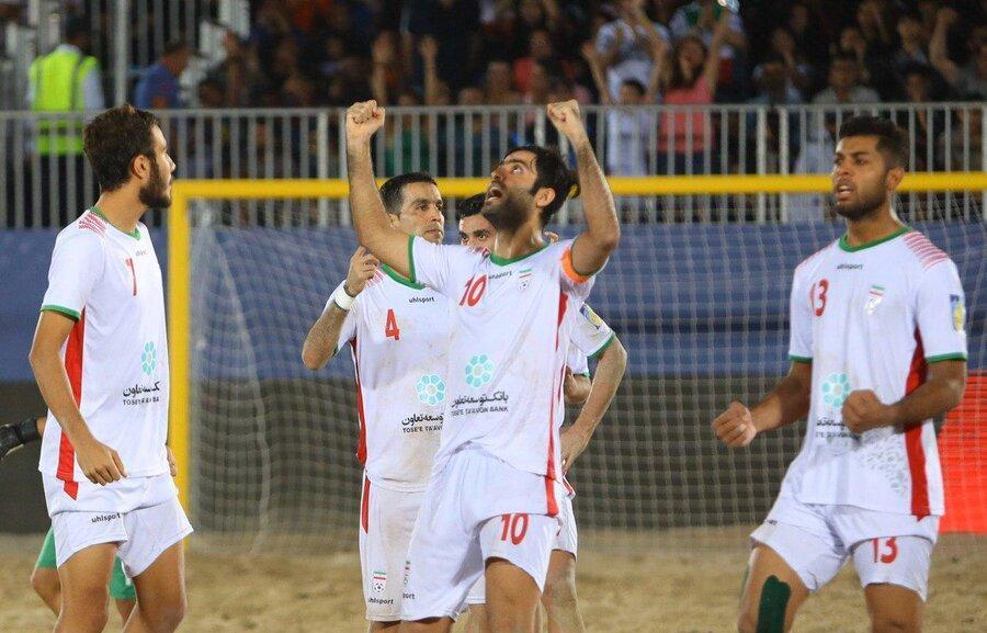 جام بین قاره ای فوتبال ساحلی، ایران با درهم کوبیدن اسپانیا قهرمان شد، کسب جام با مربی ایرانی