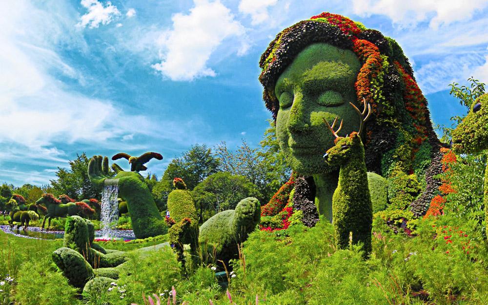 پیکره های گیاهی شگفت انگیز در فستیوال باغ آرایی مونترال کانادا