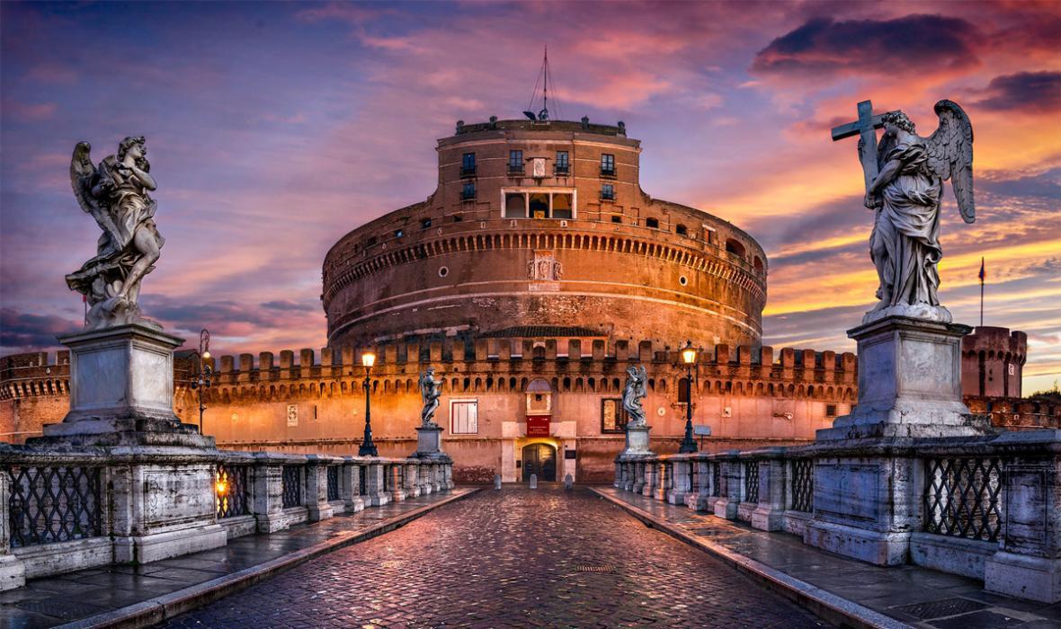 قلعه سنت آنجلو، جواهر باستانی رم ایتالیا