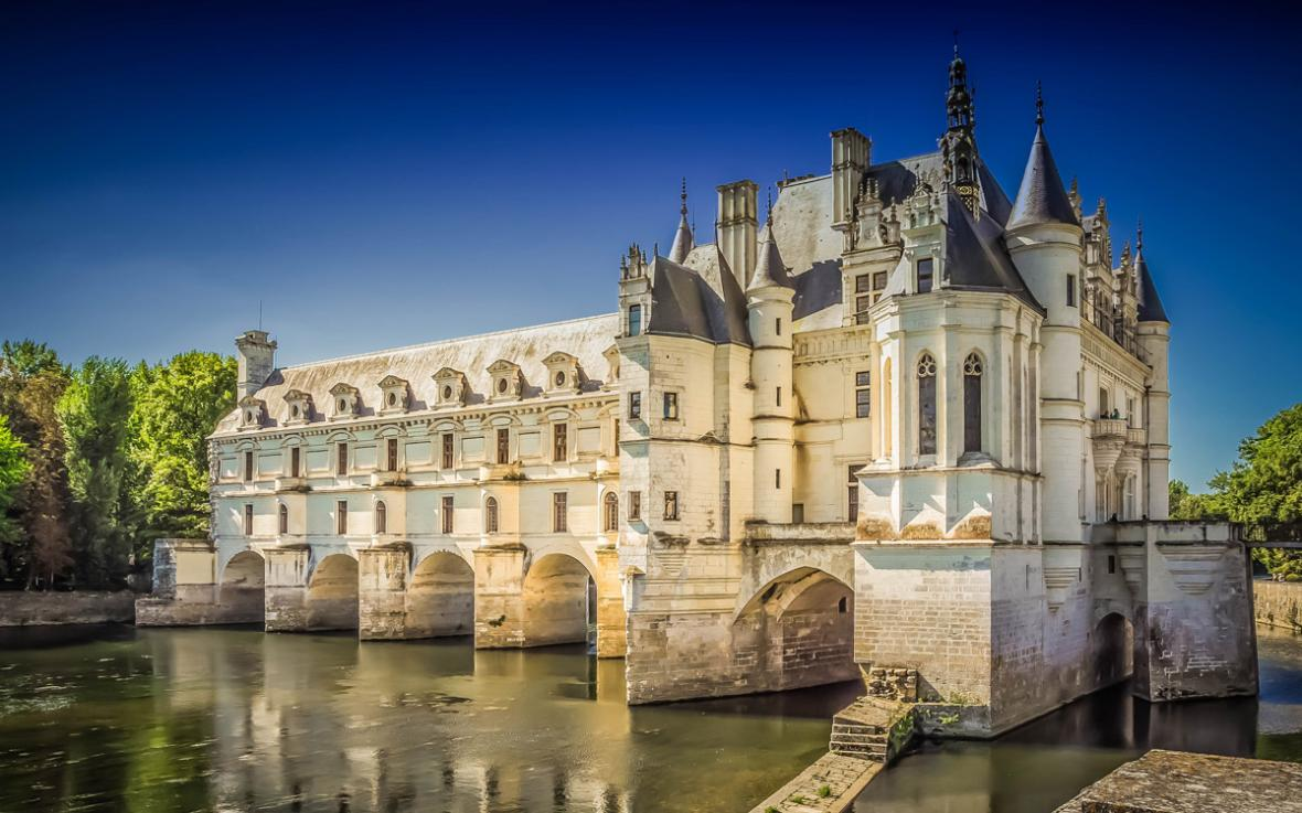 Château de Chenonceau، کاخی ساخته شده بر روی رودخانه