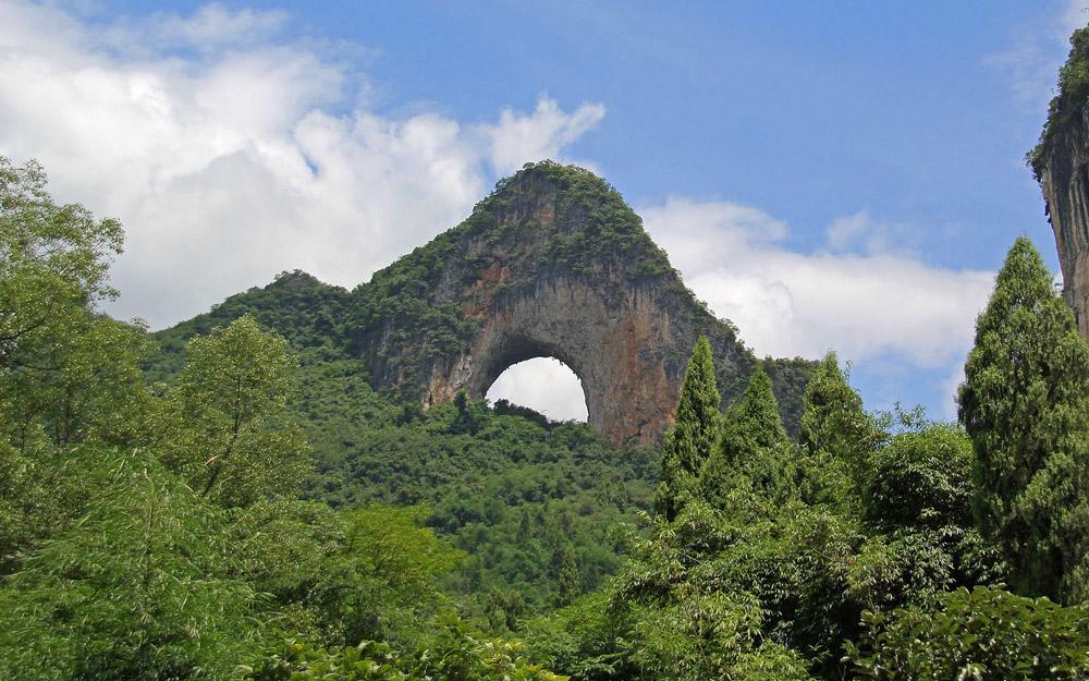 تپه ماه، یک طاق طبیعی منحصر به فرد در چین
