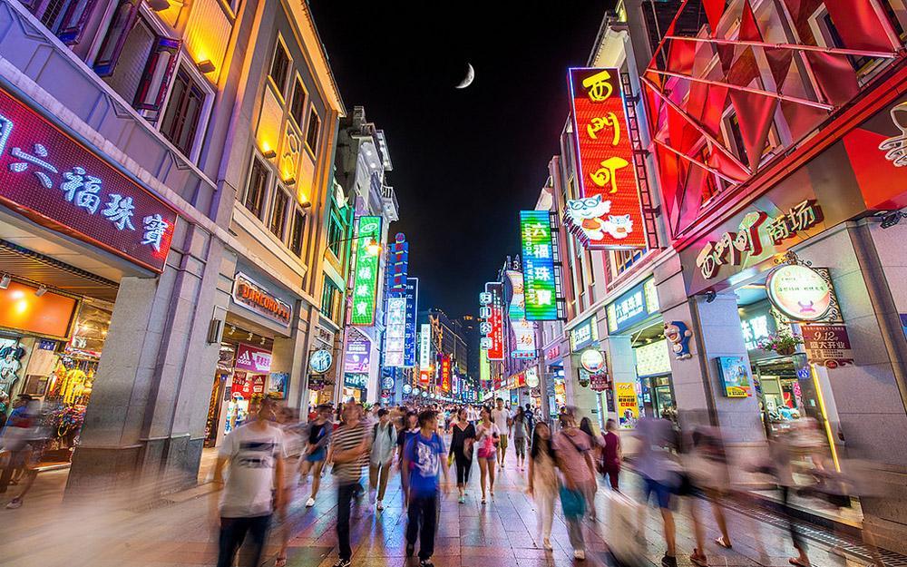 خیابان خرید شانگشیاجیو گوانجو (چین)